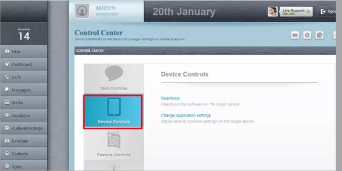flexispy device controls